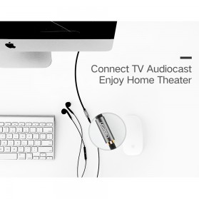 UGEEN Kabel Audio AUX 3.5mm Male to Female 1 Meter - AV118 - Black - 4