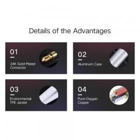 UGEEN Kabel Audio AUX 3.5mm Male to Female 1 Meter - AV118 - Black - 7