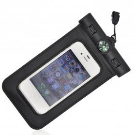 Waterproof Case Bag - Bingo Waterproof Bag for Smartphone 4.8 Inch with Compass - WP0613 - WP0619 - Black