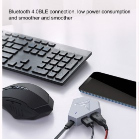 Xiaomi Feizhi Flydigi Q1 Bluetooth Adapter Teclado Converter Mouse and Keyboard - Gray - 5