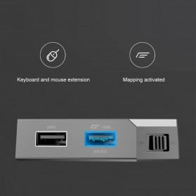 Xiaomi Feizhi Flydigi Q1 Bluetooth Adapter Teclado Converter Mouse and Keyboard - Gray - 8