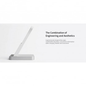 Xiaomi Mi Qi Wireless Charger Stand Holder 30W with Cooling Fan - White - 4
