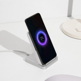 Xiaomi Mi Qi Wireless Charger Stand Holder 30W with Cooling Fan - White - 5