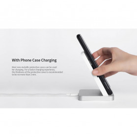 Xiaomi Mi Qi Wireless Charger Stand Holder 30W with Cooling Fan - White - 7