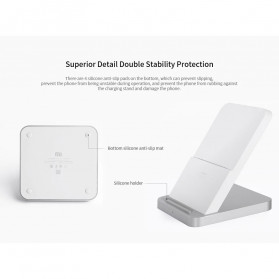 Xiaomi Mi Qi Wireless Charger Stand Holder 30W with Cooling Fan - White - 9