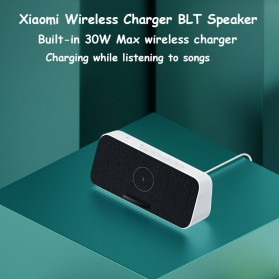 Xiaomi Qi Wireless Charger Stand Holder 30W + Bluetooth Speaker - XMWXCLYYX01ZM - White - 6