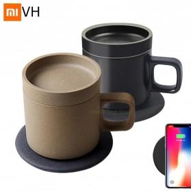 Xiaomi Mijia VH Qi Wireless Charging 10W with Gelas Electric Cup Heating Mat - Black - 2