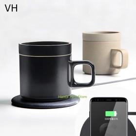 Xiaomi Mijia VH Qi Wireless Charging 10W with Gelas Electric Cup Heating Mat - Black - 3