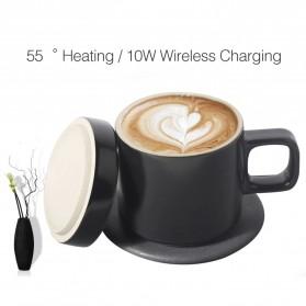 Xiaomi Mijia VH Qi Wireless Charging 10W with Gelas Electric Cup Heating Mat - Black - 4