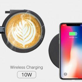 Xiaomi Mijia VH Qi Wireless Charging 10W with Gelas Electric Cup Heating Mat - Black - 5