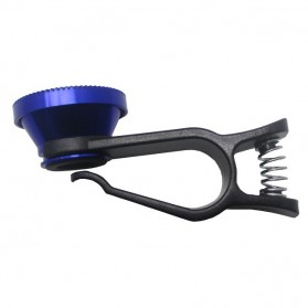 Lesung Universal Clip Lens Fisheye 3 in 1 for Smartphone - LX-U003 - Blue - 2