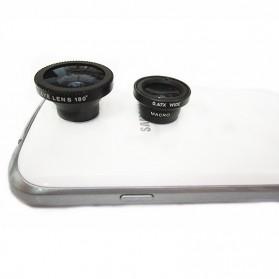 Lesung Universal 3 in 1 Fisheye Lens Kit for Mobile Phone - LX-M301 - Black - 2