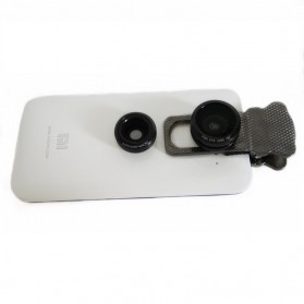 Lesung Universal Fisheye Clamp Camera Lens Clip - LX-U302 - Black