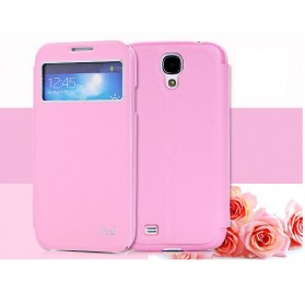SULADA Smart Leather Case Window Series for Samsung Galaxy S4 - Pink