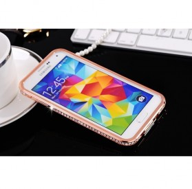 SULADA Bumber Frame Diamond Series for Samsung Galaxy Note 3 - Rose Gold