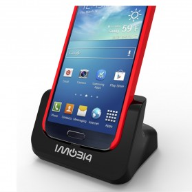 IMobi4 Desktop Dual Charging Dock for Samsung Galaxy S5 - Black - 1