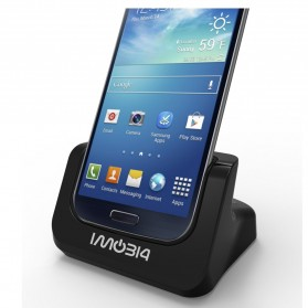 IMobi4 Desktop Dual Charging Dock for Samsung Galaxy S5 - Black - 2