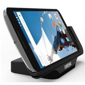 IMobi4 Horizontal Desktop Charging Dock for Google Nexus 6 - Black - 5