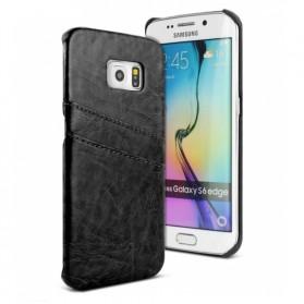 Imak Wisdom Luxury Genuine Leather Case for Samsung Galaxy S6 Edge G9250 - Black