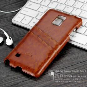 Imak Wisdom Luxury Genuine Leather Case for Samsung Galaxy Note 4 N9100 - Brown - 2