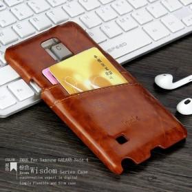 Imak Wisdom Luxury Genuine Leather Case for Samsung Galaxy Note 4 N9100 - Brown - 3