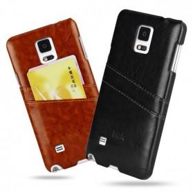 Imak Wisdom Luxury Genuine Leather Case for Samsung Galaxy Note 4 N9100 - Brown - 4