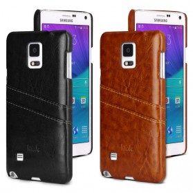 Imak Wisdom Luxury Genuine Leather Case for Samsung Galaxy Note 4 N9100 - Brown - 5