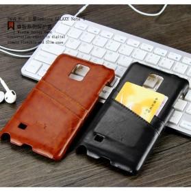 Imak Wisdom Luxury Genuine Leather Case for Samsung Galaxy Note 4 N9100 - Brown - 6