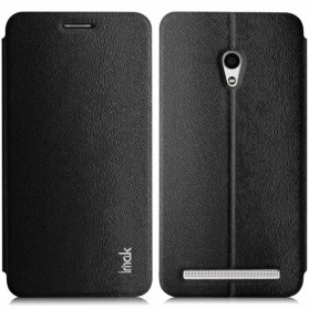 Imak Flip Leather Cover Case Series for Zenfone 5 - Black