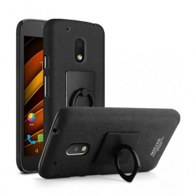 Imak Contracted iRing Hard Case for Moto G4 Play - Black