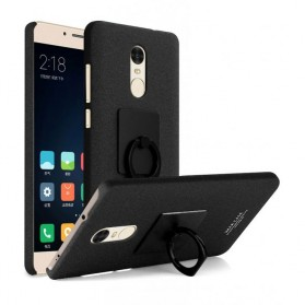 Imak Contracted iRing Hard Case for Xiaomi Redmi Note 4 Mediatek - Black