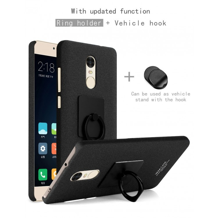 super popular 9334a 146d7 Imak Contracted iRing Hard Case for Xiaomi Redmi Note 4X - Black