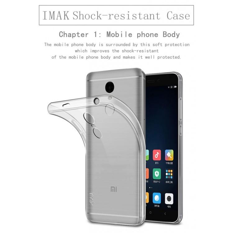 Imak Full Cover Silicone Case for Xiaomi Redmi Note 4X - Black - 6 ...