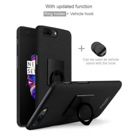 Imak Contracted iRing Hard Case for OnePlus 5 - Black - 4