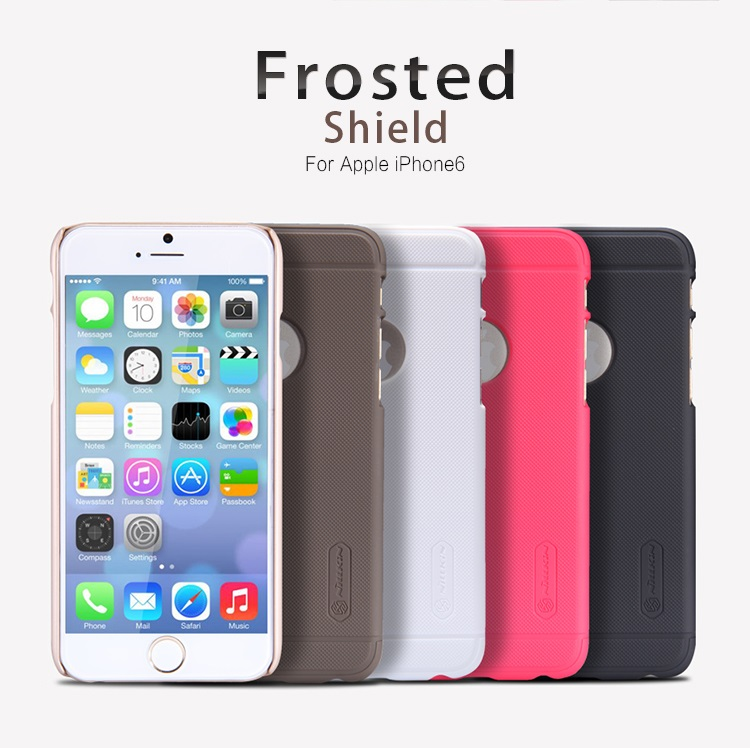 Nillkin Super Frosted Shield Hard Case for Apple iPhone 6 - Black ... c0911225db