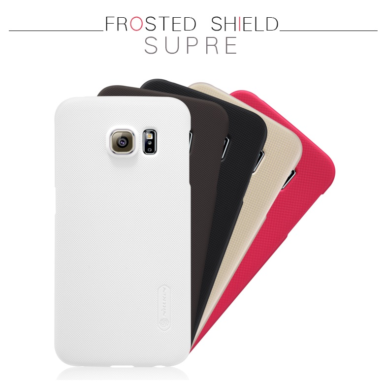 Nillkin Super Frosted Shield Hard Case for Samsung Galaxy S6 Edge - Golden - 9 ...