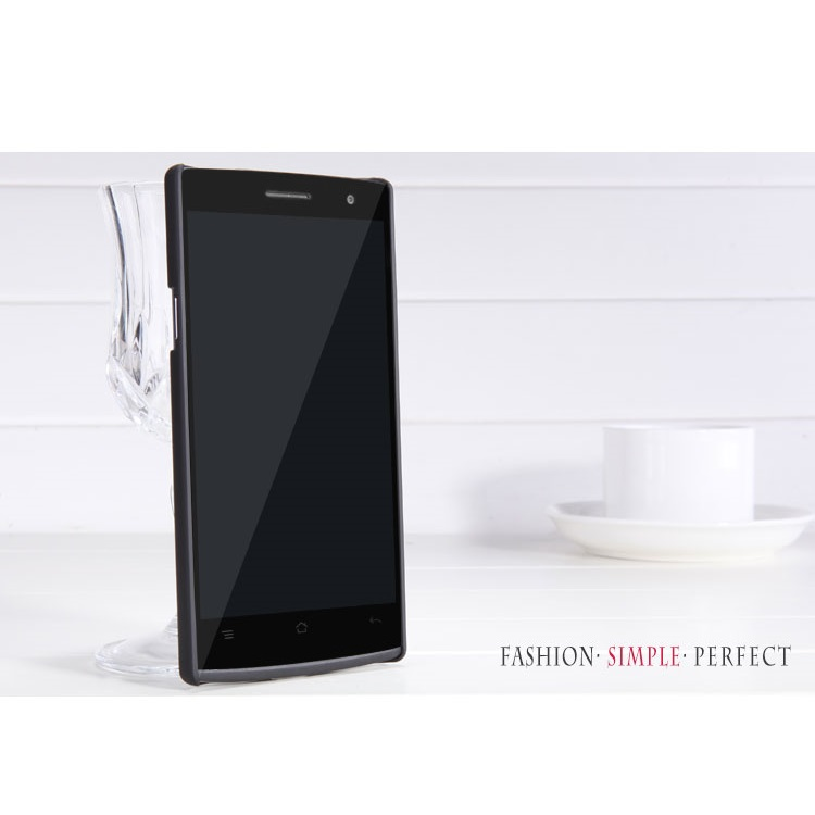 Nillkin Super Frosted Shield Hard Case for Oppo Find 7 - Black -