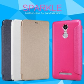 Nillkin Sparkle Window Case for Xiaomi Redmi Note 3 / Note 3 Pro (KENZO) - Black - 3