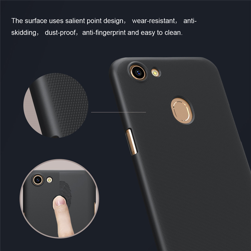 promo code 80a31 c68b6 Nillkin Super Frosted Shield Hard Case for OPPO F5 - Black ...