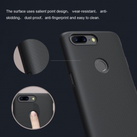 Nillkin Super Frosted Shield Hard Case for OnePlus 5T - Black - 8