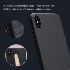 Nillkin Super Frosted Shield Hard Case for iPhone X - Black - 8