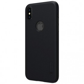 Nillkin Super Frosted Shield Hard Case with Logo Cutout for iPhone X - Black - 5