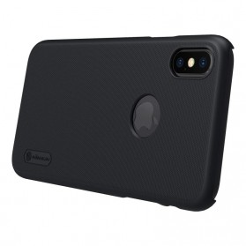 Nillkin Super Frosted Shield Hard Case with Logo Cutout for iPhone X - Black - 6