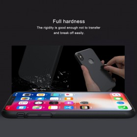 Nillkin Super Frosted Shield Hard Case with Logo Cutout for iPhone X - Black - 7