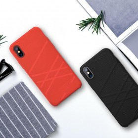 Nillkin Flex Liquid Silicone Soft Case for iPhone X - Black - 8