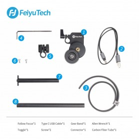 Feiyu Tech AKF II Brushless Motor Follow Focus Tool Kit for AK2000 AK4000 Gimbal - Black - 7