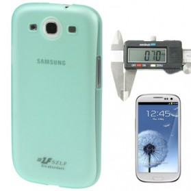 0.7mm Ultra Thin Polycarbonate Translucent Protective Shell for Samsung Galaxy SIII / i9300 - Light Green