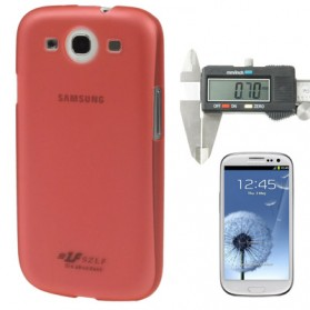 0.7mm Ultra Thin Polycarbonate Translucent Protective Shell for Samsung Galaxy SIII / i9300 - Red
