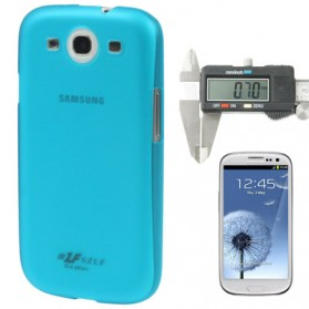0.7mm Ultra Thin Polycarbonate Translucent Protective Shell for Samsung Galaxy SIII / i9300 - Blue