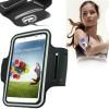 Universal PU Sports Armband Case with Earphone Hole for Samsung Galaxy S4 / i9500 / i9300 - Black